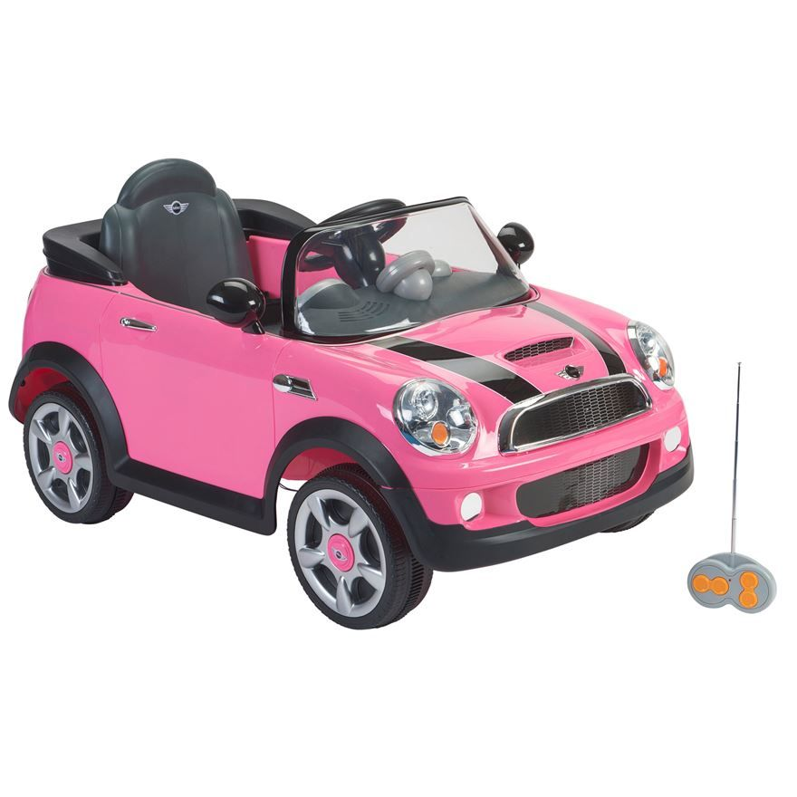 pink mini cooper with remote control image 0
