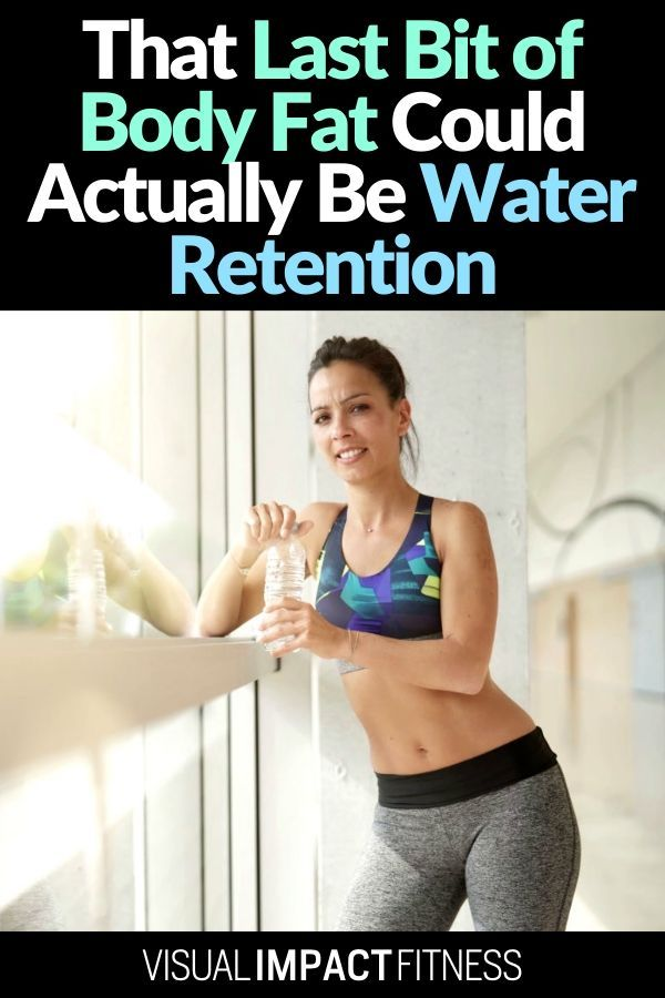 When losing weight what appears to be fat is sometimes water trapped in the tissues under your skin. Here's how to lose this water and get lean. #wateretention #weightlosstipsforwomen #howtogetslim