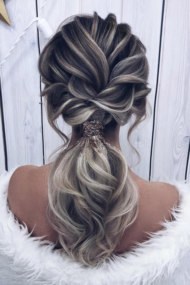 37 Modern Pony Tail Hairstyles Ideas For Wedding Wedding Forward Hair Styles Pony Hairstyles Tail Hairstyle