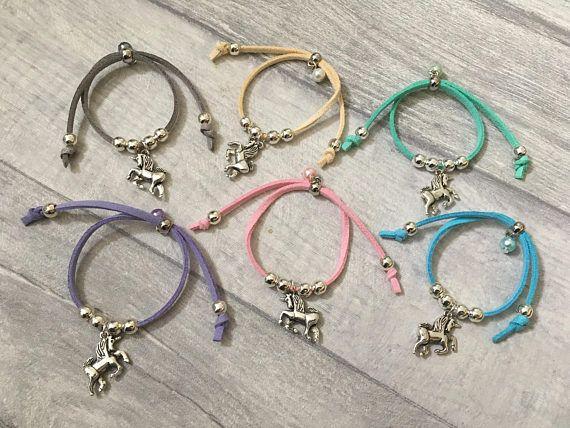 UNICORN BRACELETS Girls Party Bag Fillers Pink Purple Friendship Bracelet
