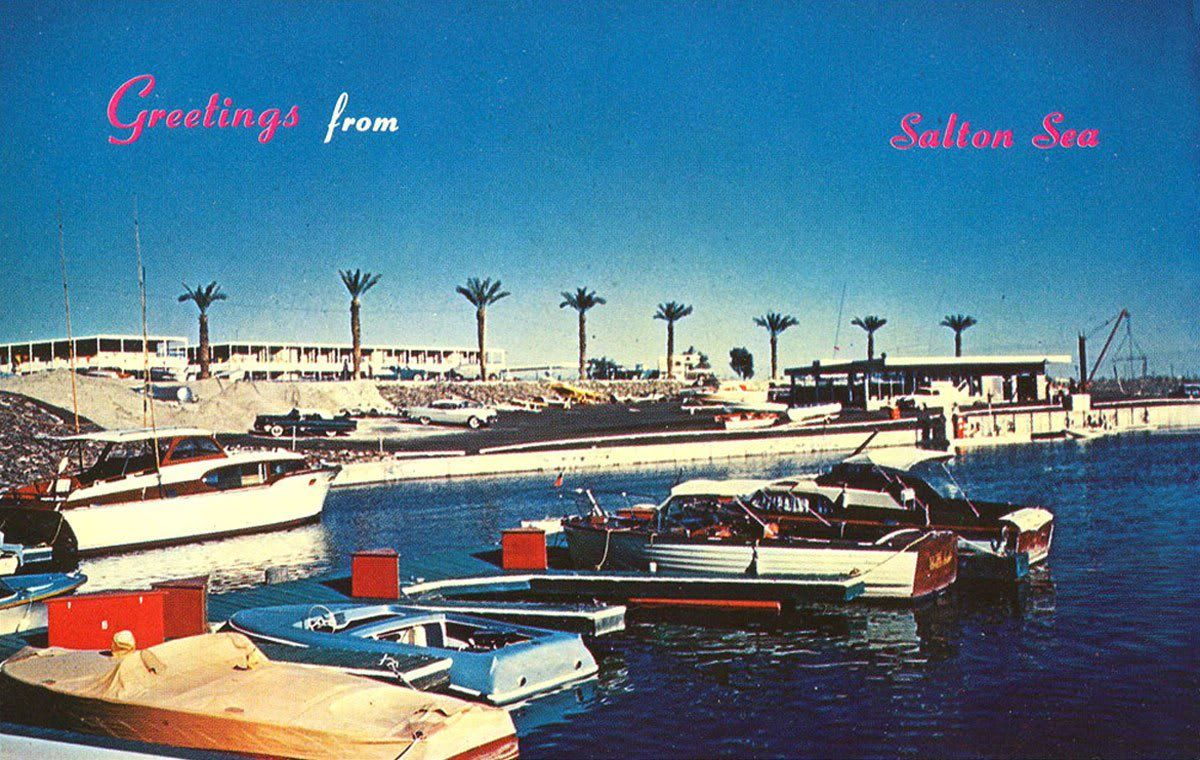 Postcard From Salton Sea In The 1960 S