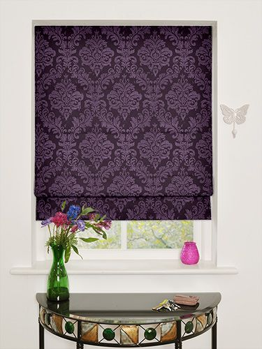 Purple Roller Shades : Florence royal purple roman blind from blinds go dana s