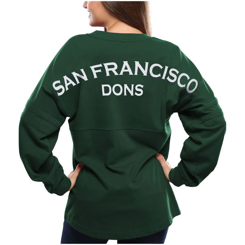 the best attitude 3a2e7 b9d10 San Francisco Dons Women's Pom Pom Jersey Long Sleeve T ...