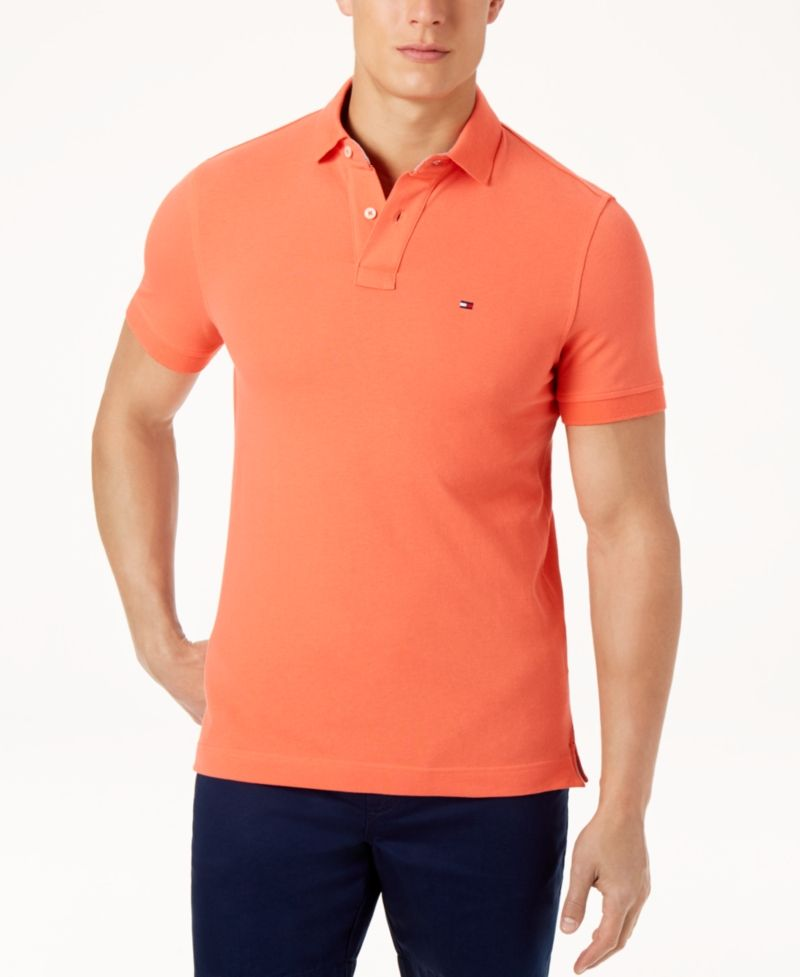 b418468d Tommy Hilfiger Men's Custom-Fit Ivy Polo - Gray XS in 2019 ...