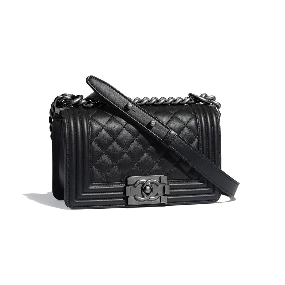 Photo of Chanel Handbag Boy Quilted Small 2ck1127 Black Leather Cross Body Bag
