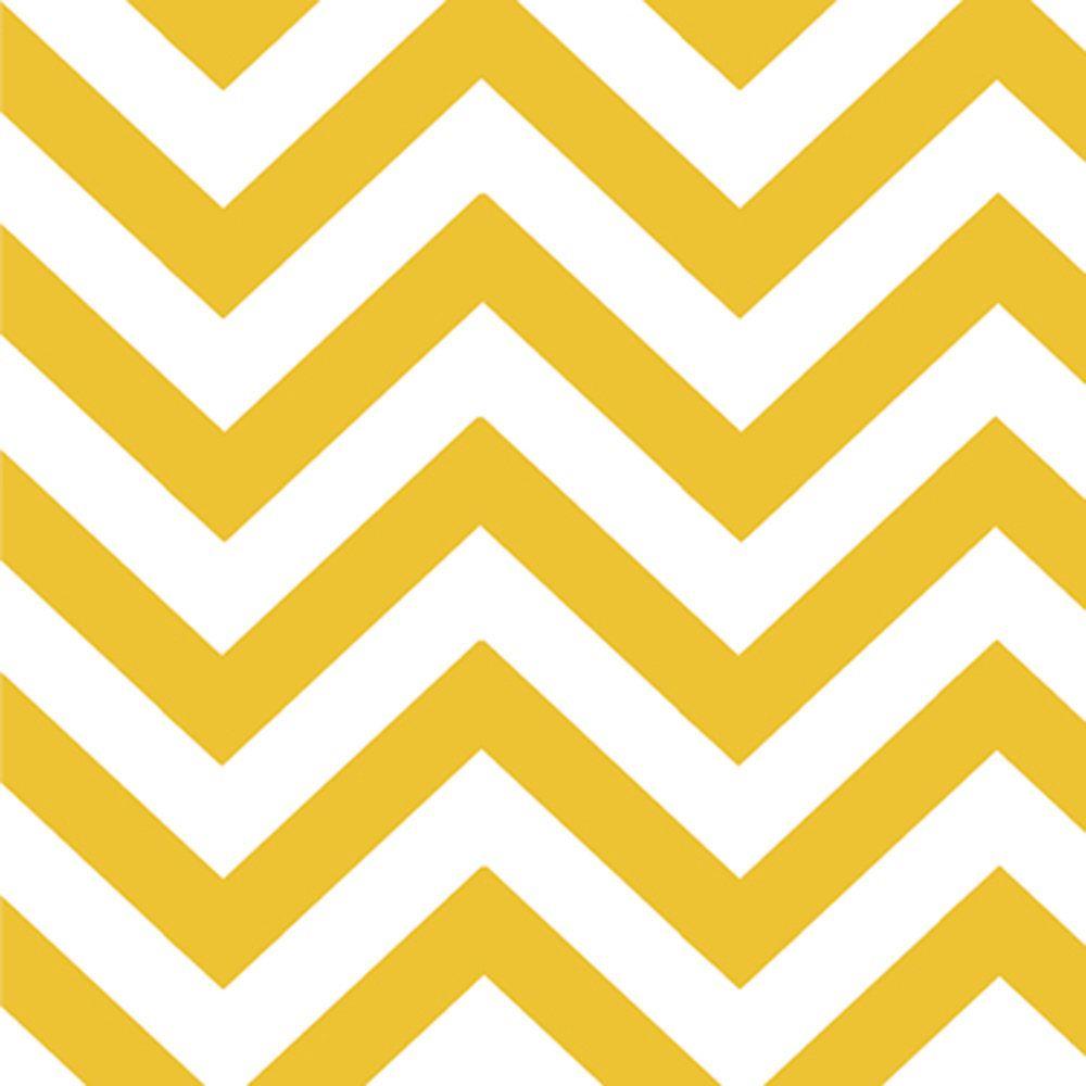 Yellow White Chevron Fabric - Half Moon Modern Small Zig Zags ...