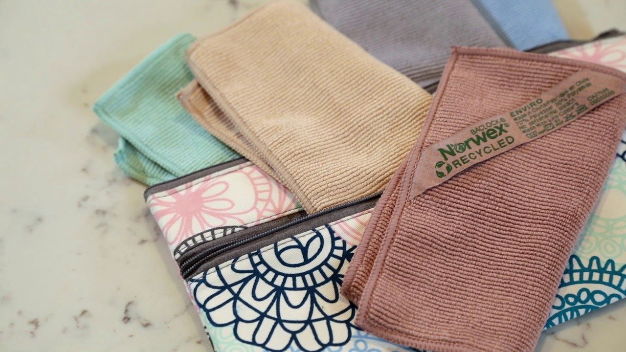 Take your Norwex Microfiber with you onthego with two