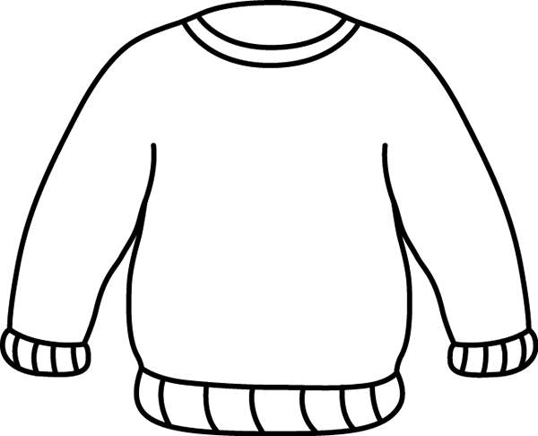 black and white sweater clip art clothes pinterest white rh pinterest com Heart Clip Art Human Body Outline Clip Art