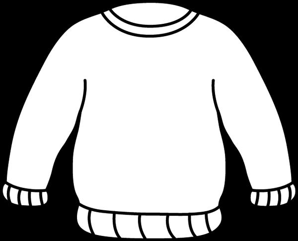 83ac3e87b Black and White Sweater Clip Art - Black and White Sweater Image ...