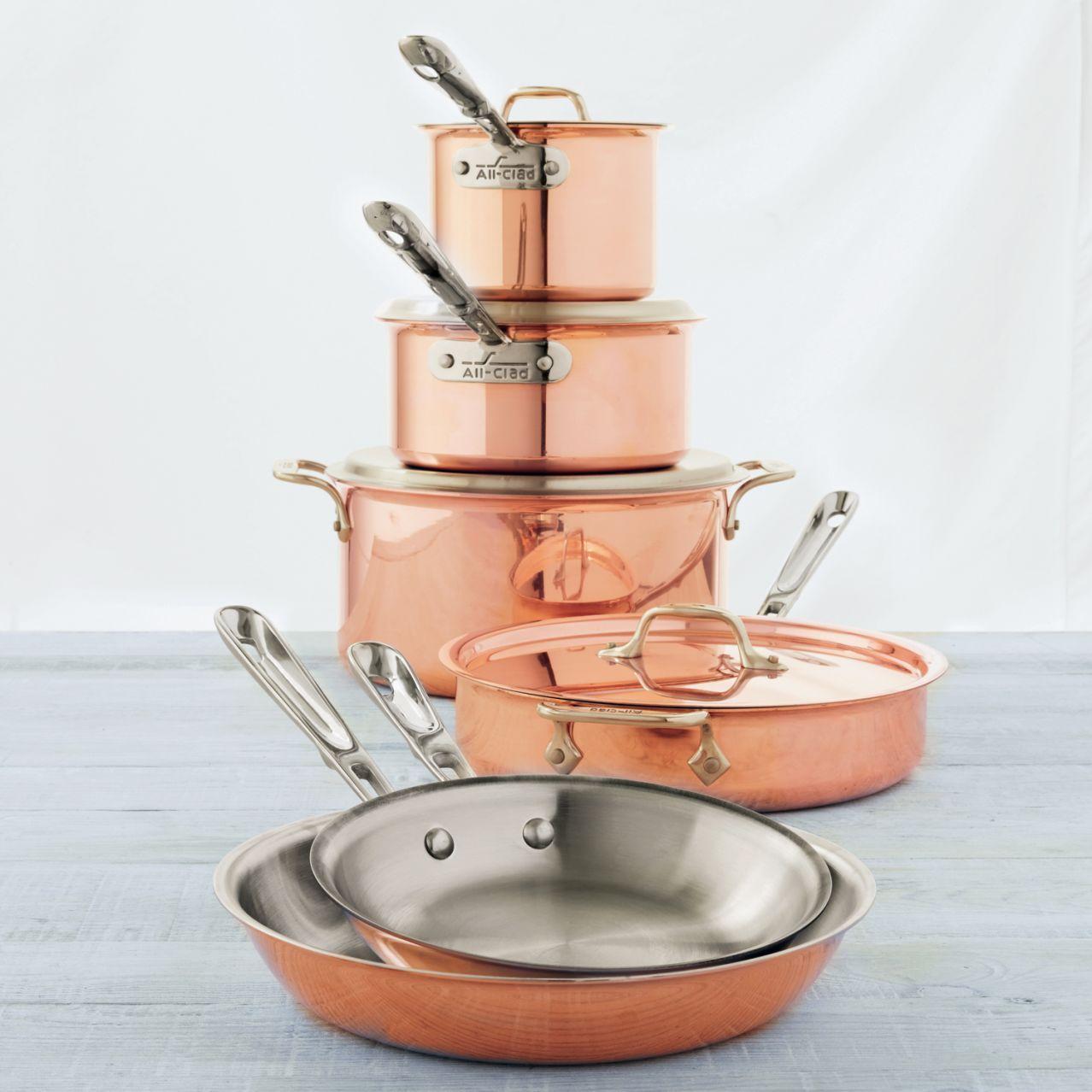All-Clad Copper Clad 10-Piece Set // Sur La Table | Eating Spaces ...