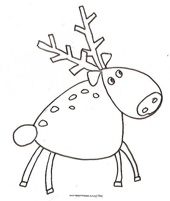 Fabuleux Coloriage d'un renne du Père Noël | Renne du pere noel, Renne et  TJ32