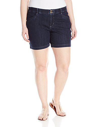 Lee Womens PlusSize Comfort Fit Citrine Walk Short Renoir 26W Medium * Continue to the product at the image link.(This is an Amazon affiliate link)