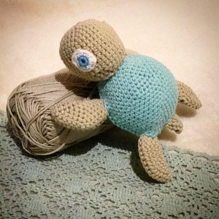 Schildkröte häkeln Anleitung Gehäkelte Schildkröte mit eingenähter ...