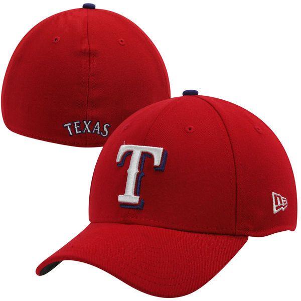 Men s Texas Rangers New Era Red MLB Team Classic 39THIRTY Flex Hat ... eb7c603a764e