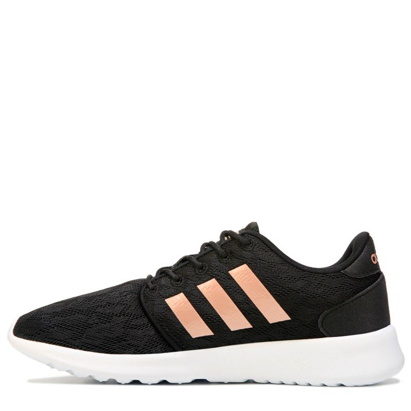 new arrival 036f1 2a265 Adidas Women s Neo Cloudfoam QT Racer Sneakers (Black Gold)