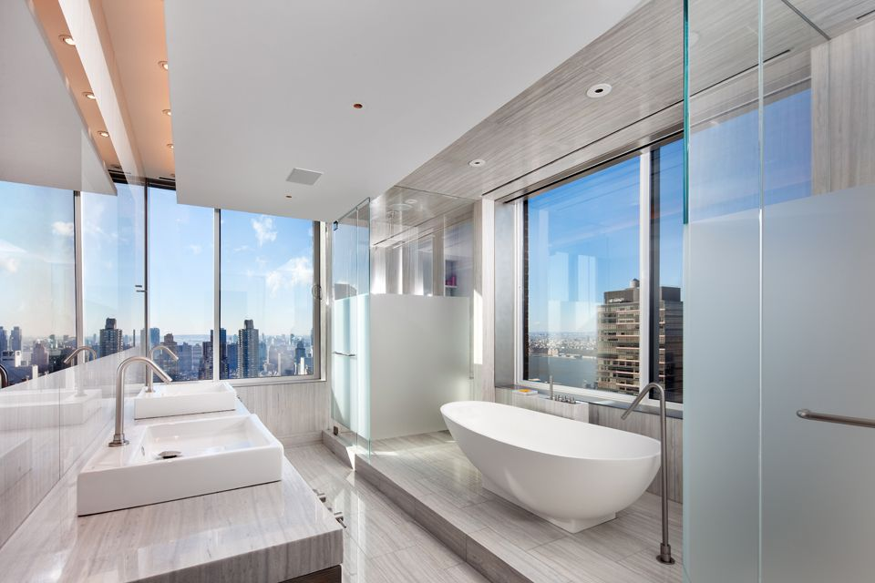 Good The Use Of Glass In The Bathroom At Upper West Side Penthouse In New York,  USA Designed By Turett Collaborative Architects. Design Ideas