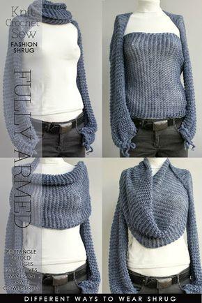 cool idea for winter sleeved shrug