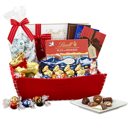 Holiday Magic Lindt Chocolate Gift Basket Lindt Chocolate Chocolate Gifts Basket Lindt Chocolate Chocolate Gifts