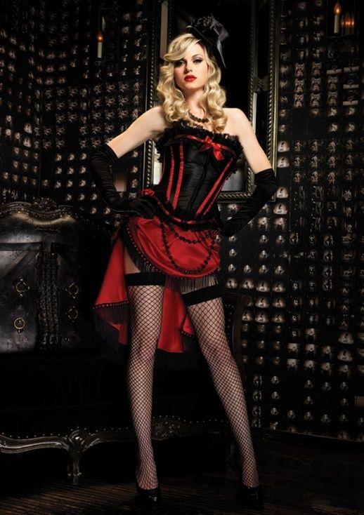 Size S /& L Black Steampunk Victorian Saloon Girl Burlesque Bustle Skirt