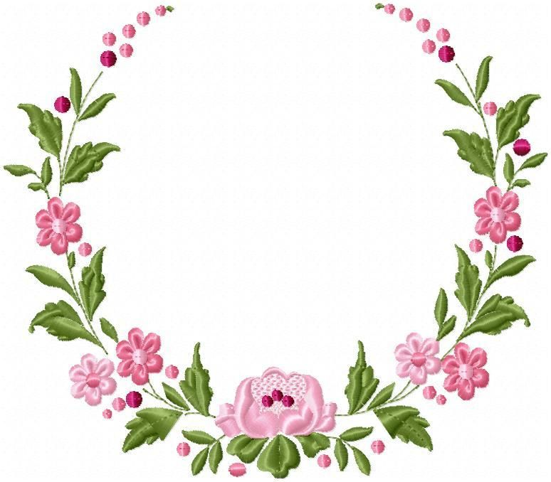 Floral Circle Border Machine Embroidery Design Machine Embroidery Designs Brother Embroidery Design Embroidery Designs