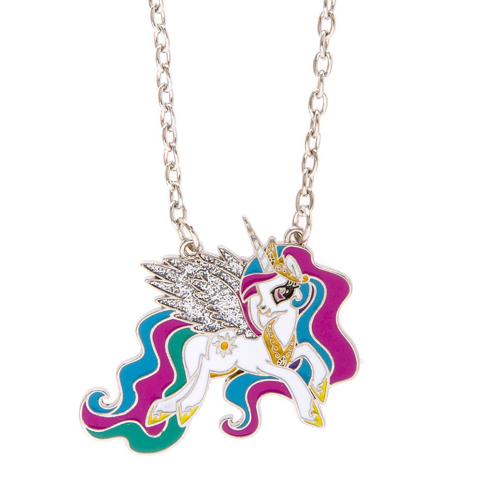RAINBOW DASH MY LITTLE PONY SILVER 16 INCH NECKLACE 2 TO 4 YEAR,Gift Box PARTY