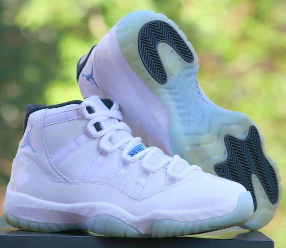 reputable site 8973b 155b8 Nike Air Jordan 11 XI Retro Legend Blue White 378037-117 Size 8.5  Nike   BasketballShoes