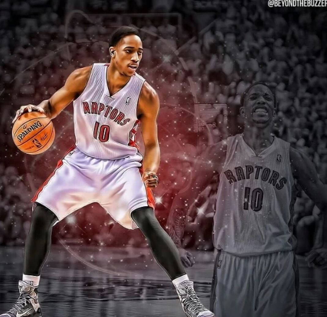 Demar derozan basketball art kyle lowry nba basketball