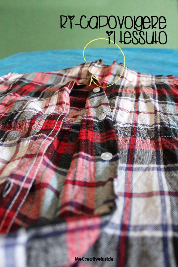tutorial diy cuscino fai da te con vecchia camicia festa del papà ME creativeinside