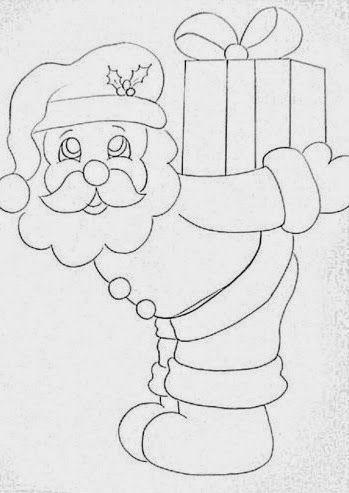 Riscos Com Imagens Papai Noel Desenho Paginas Para Colorir