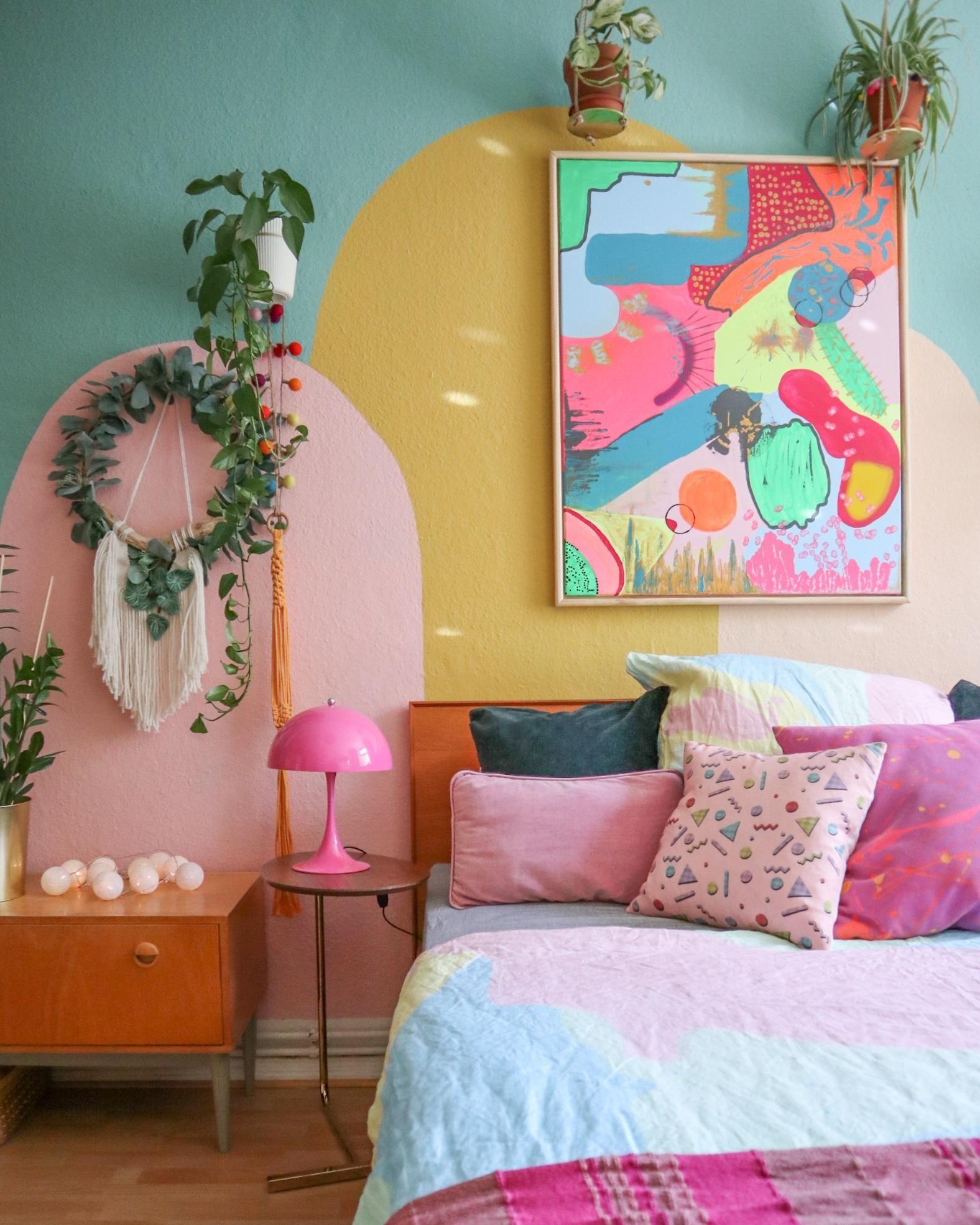 Knallbuntes Schlafzimmer von MelanieHank