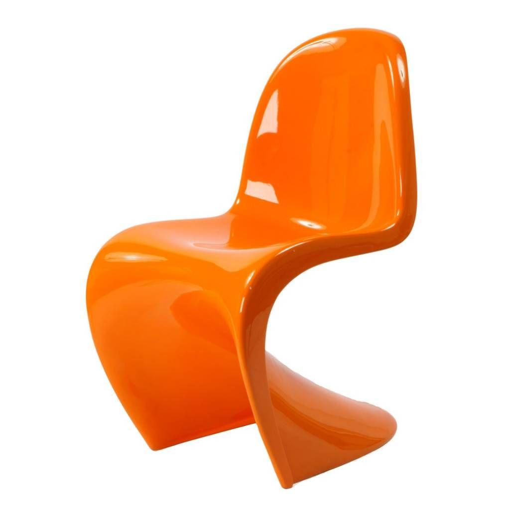 panton chair originaly designed by verner panton in 1960 orange