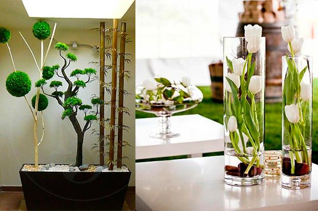Decora el interior de tu hogar con plantas artificiales - Plantas de interior con flor ...