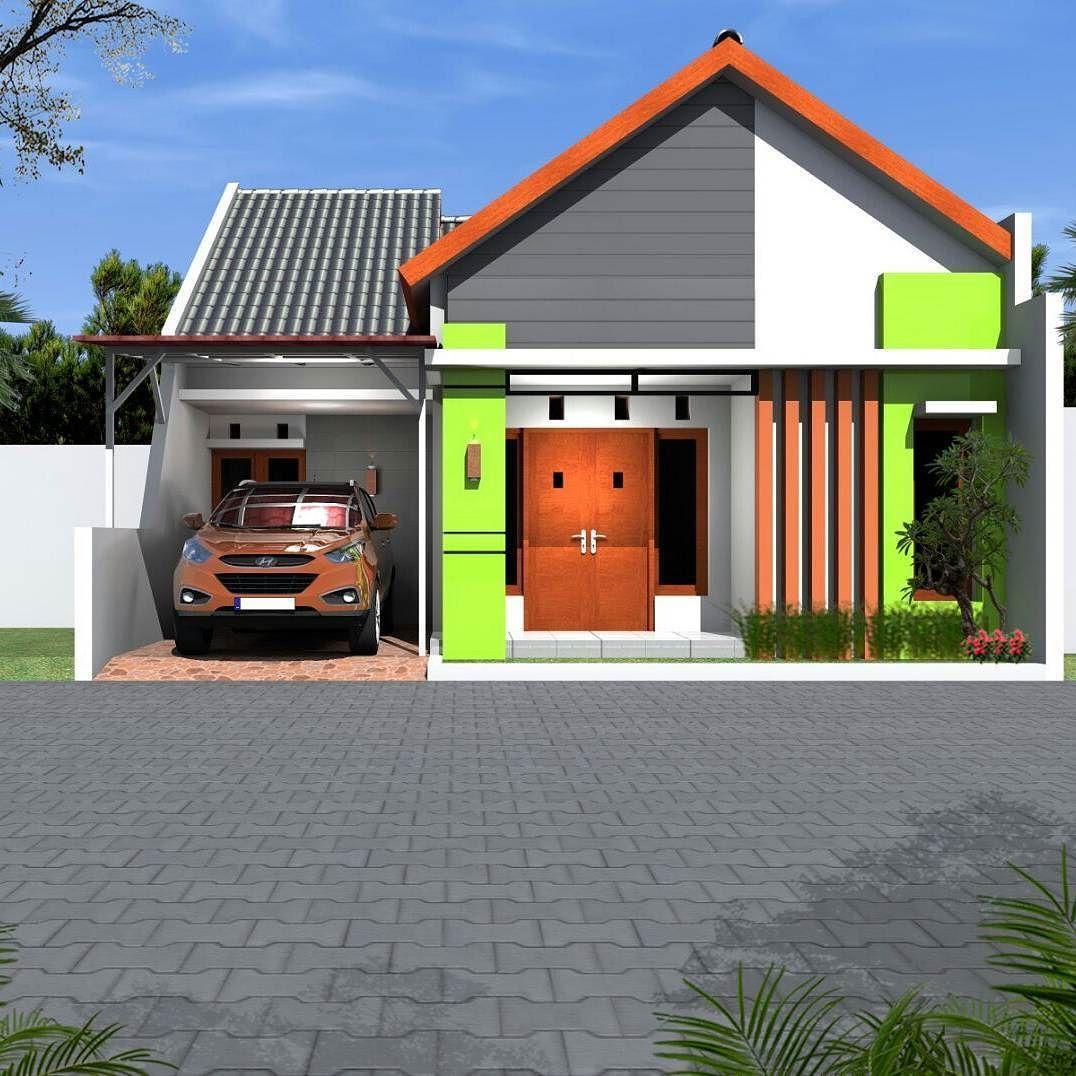 Model Rumah Minimalis Sederhana Dengan Warna Cat Hijau Desain