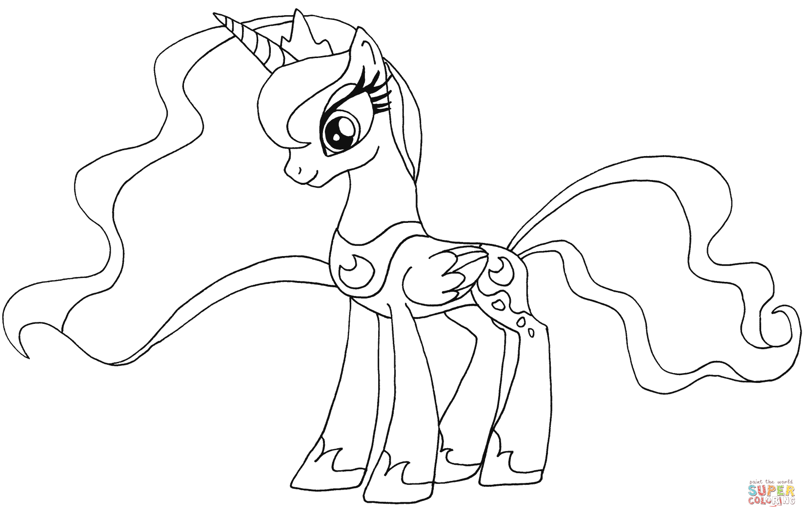 My Little Pony Princess Luna Coloring Page Free Printable Coloring Pages My Little Pony Coloring My Little Pony Printable Princess Coloring Pages