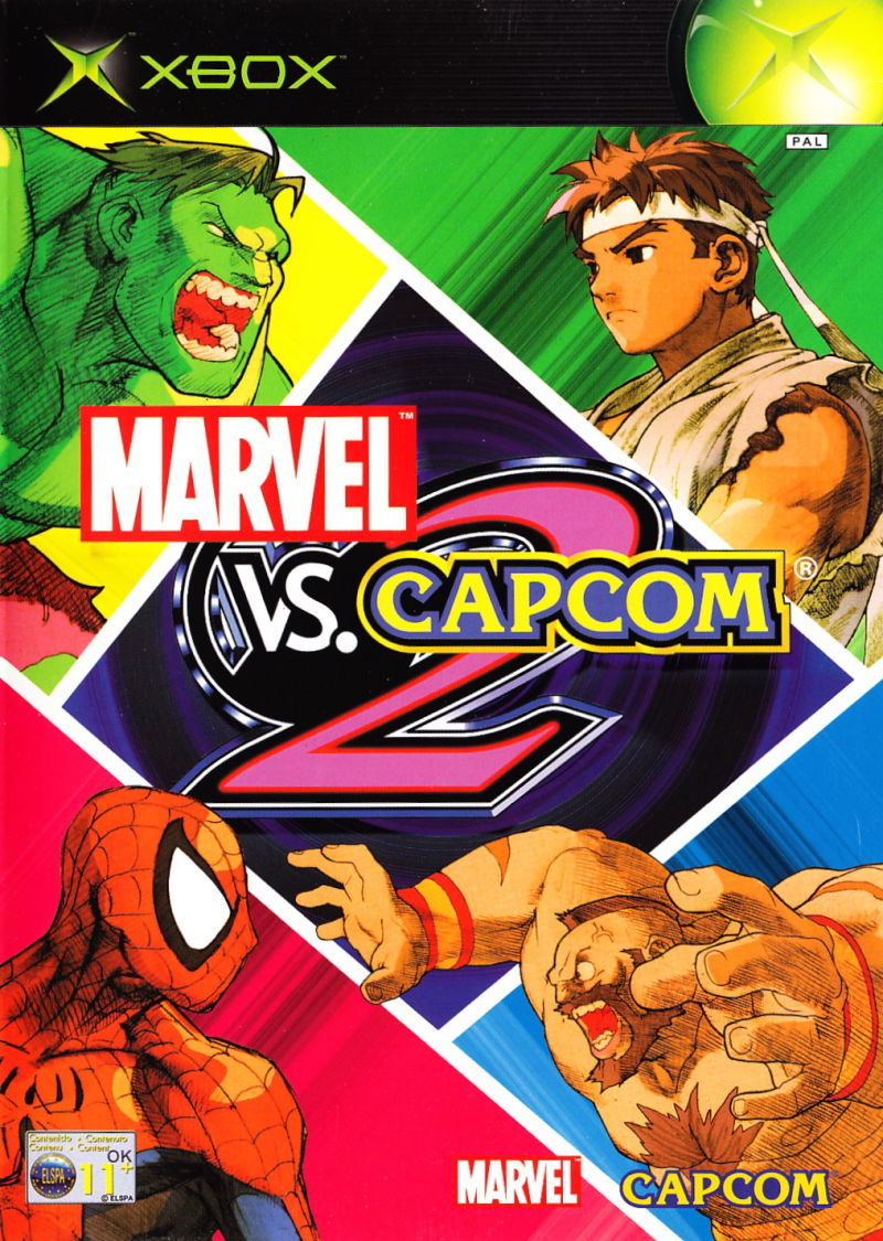 Marvel Vs Capcom 2 2002 Xbox Box Cover Art Mobygames Marvel Vs Capcom Marvel Vs Marvel Vs Capcom Infinite