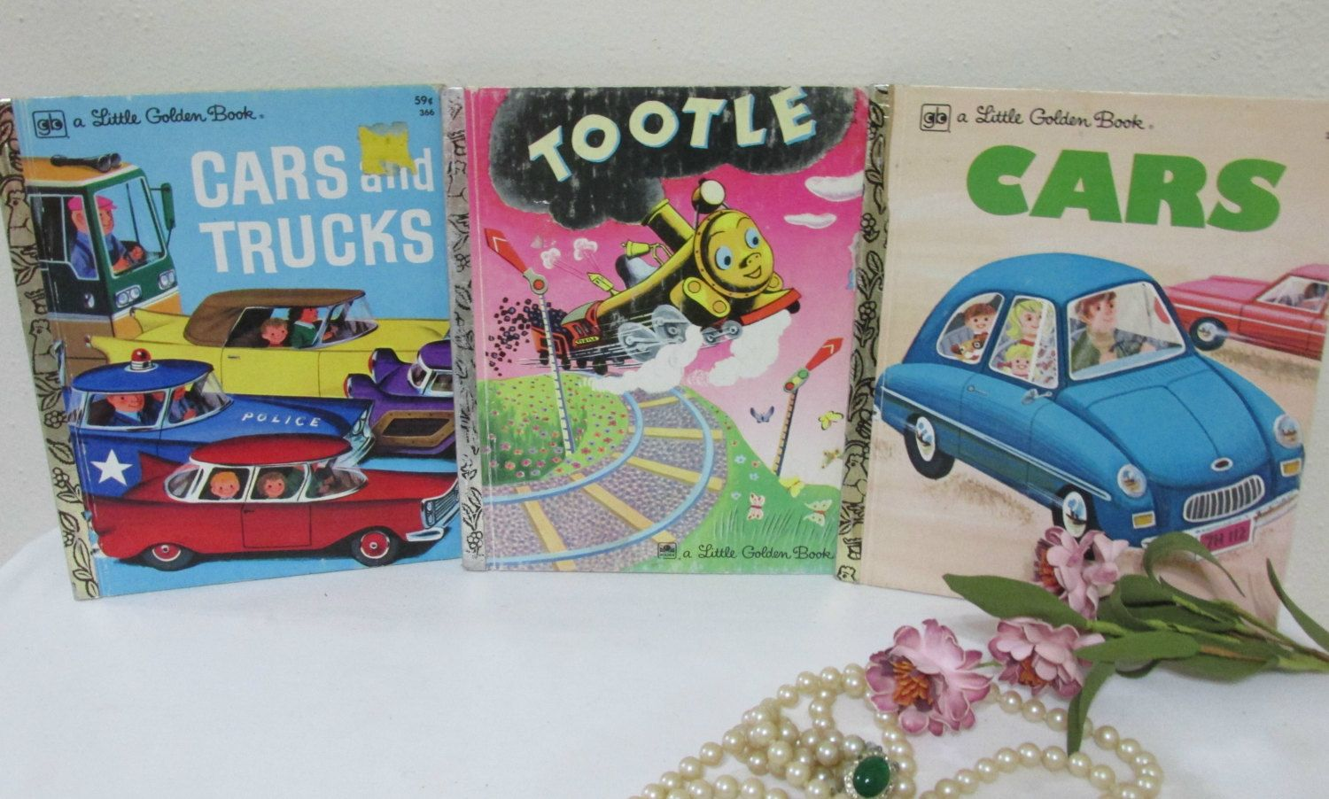 little golden books cars trucks and trains set of 3 by luruuniques on etsy