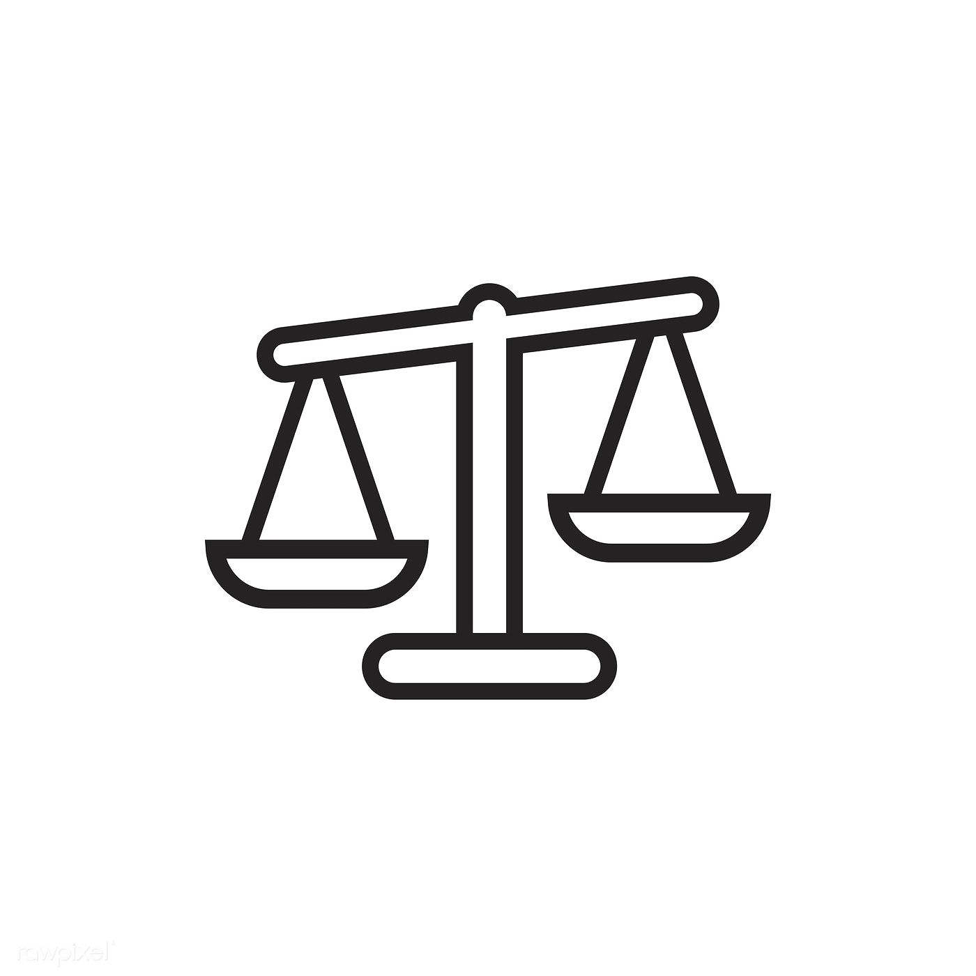 Justice Scale Icon Vector Free Image By Rawpixel Com Vector Free Justice Scale Graphic Design Programs