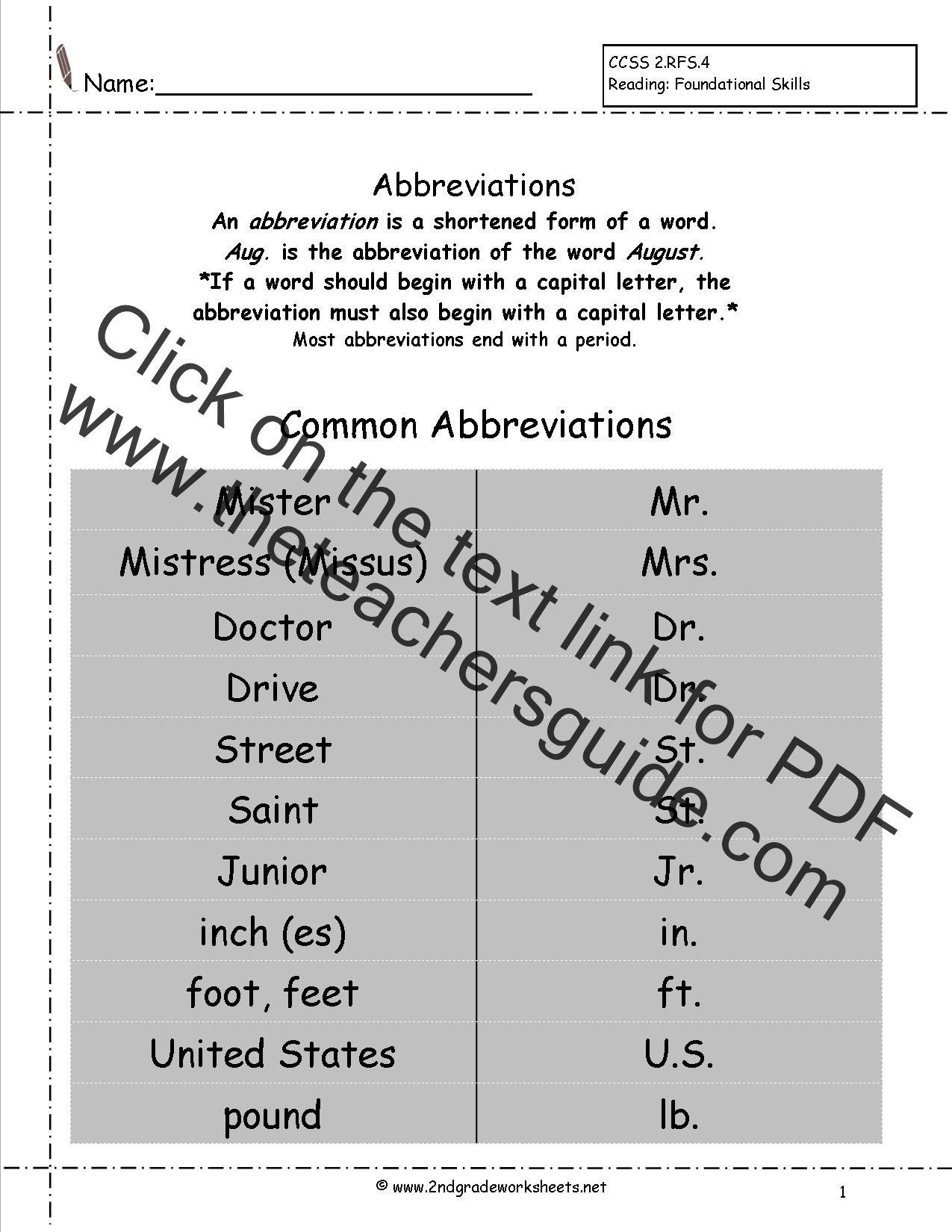 2nd Grade Capitalization Worksheets Free Language Grammar