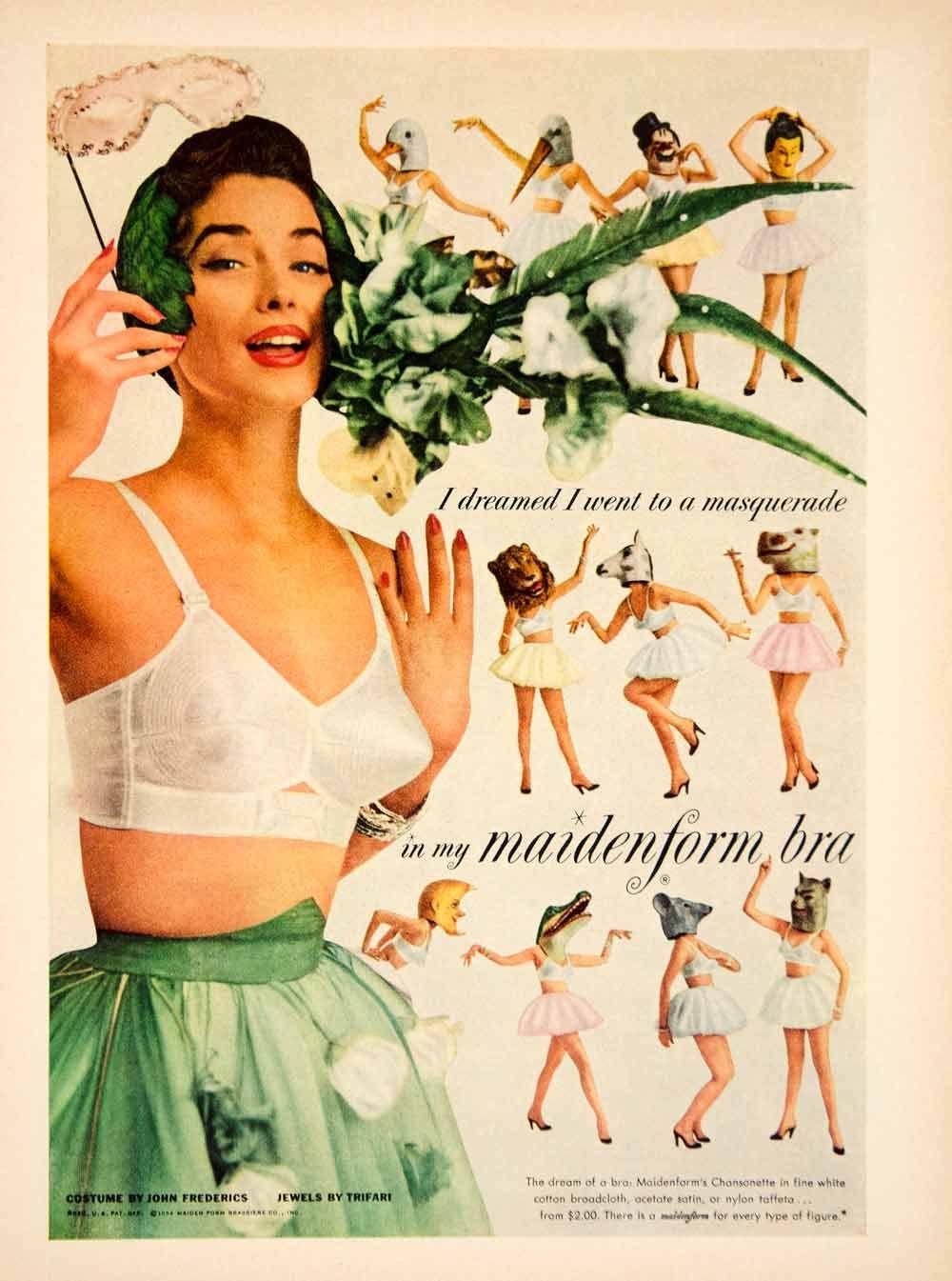 1954 ad vintage maidenform chansonette bra brassiere i