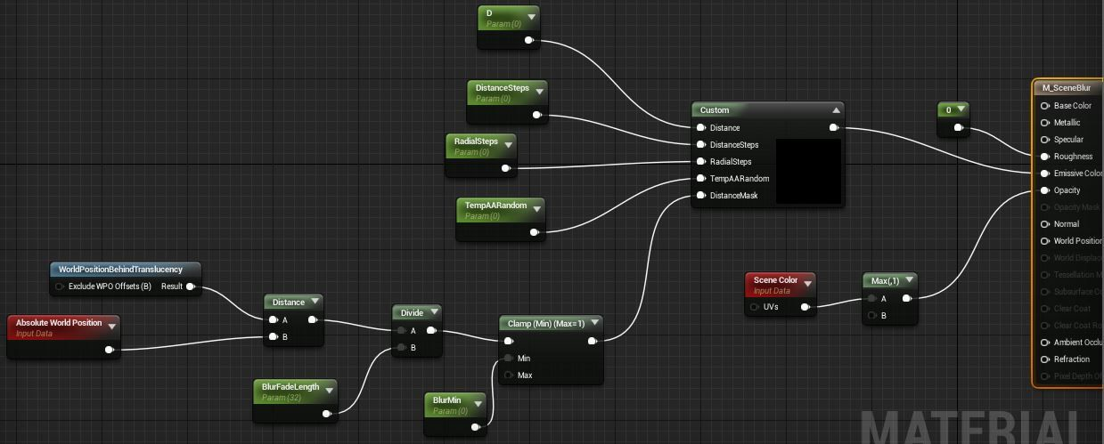 Ue4 Blurred Glass Material 1 3 By Ryanb The Material Graph