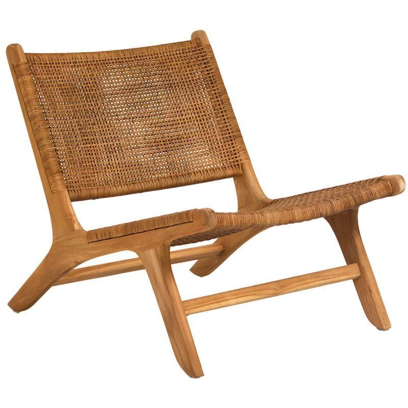 Dovetail Emo Chair Woven Chair Teak Lounge Chair