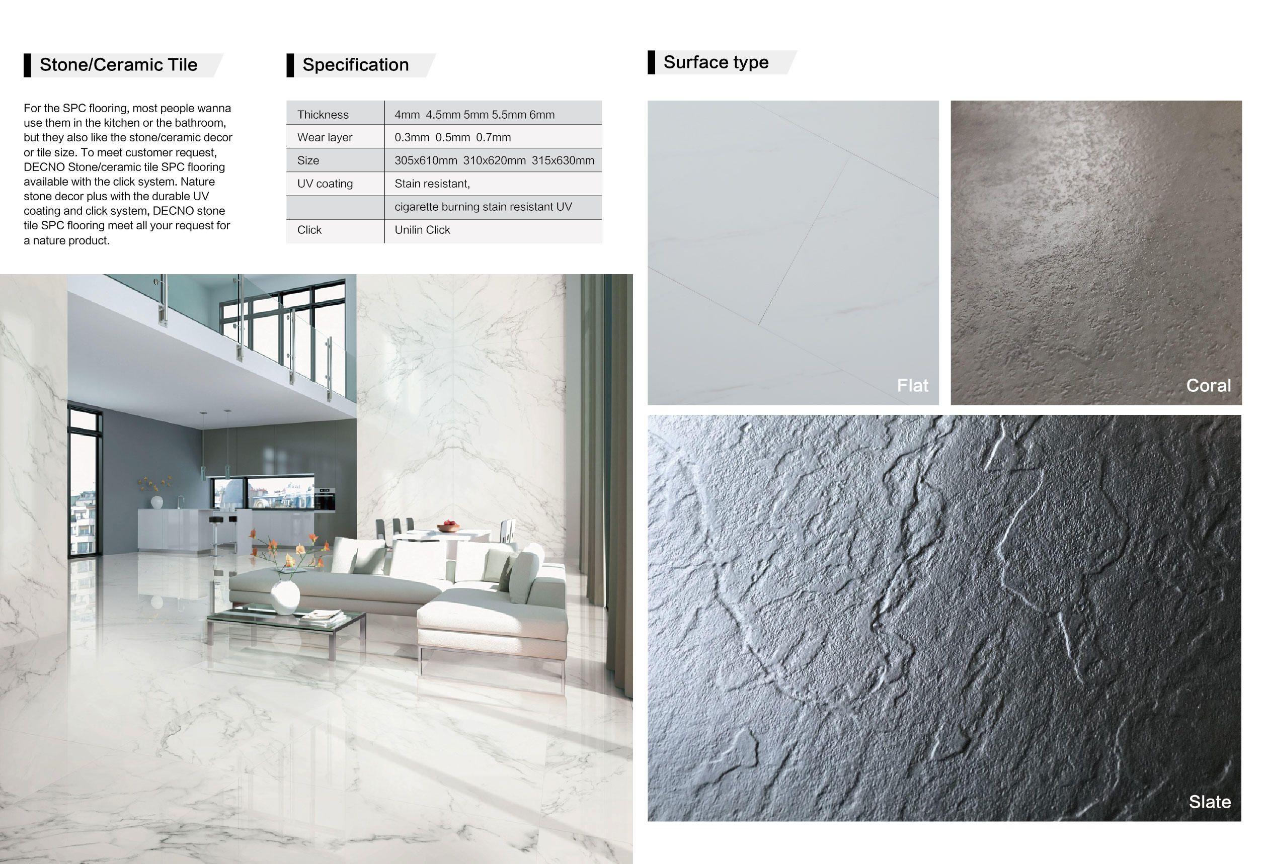 Stone Surface Spc Flooring Flooring Luxury Vinyl Tile Waterproof Flooring