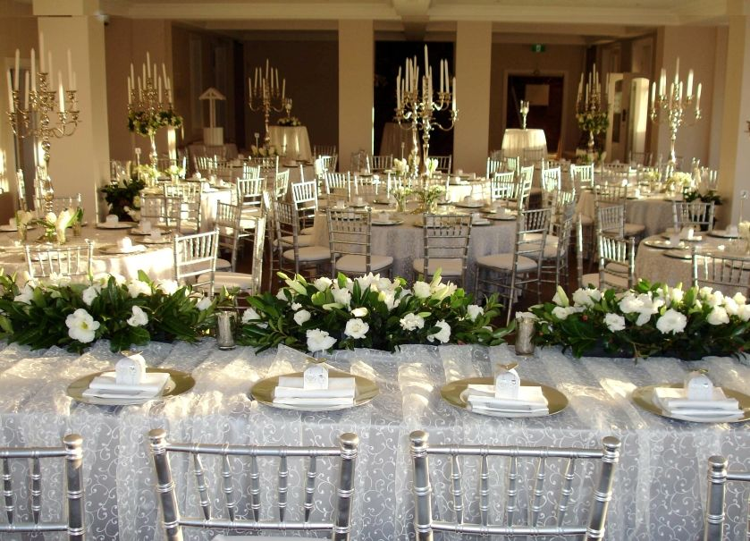 Candelabra centerpieces with greenery google search wedding wedding junglespirit Image collections