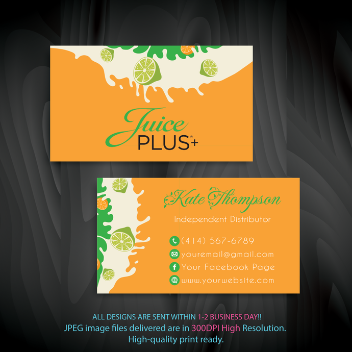 Juice Plus Business Cards Custom Juice Plus Cards Personalized Juice Plus Business Cards Printable File Custom Business Card Jl03 Juice Plus Juicing Recipes Restaurant Menu Template