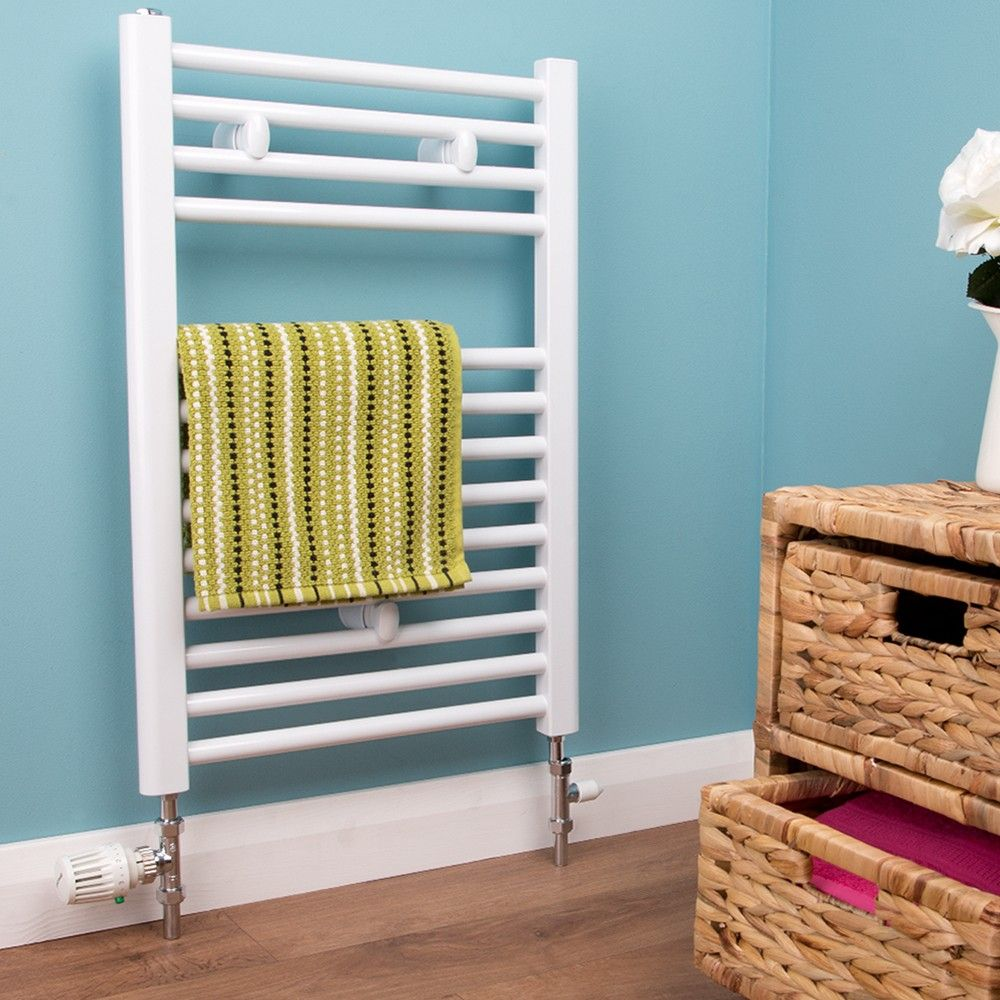 Bathroom Towel Radiator White - H 691 x W 450mm | Bathroom ...