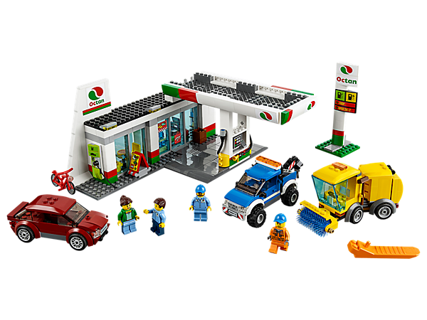 Service Station 60132 City Buy Online At The Official Lego Shop Us Lego City Sets Lego City Building For Kids