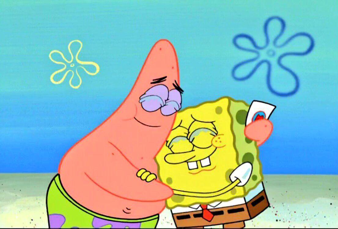 Spongebob And Patrick Kartun Ilustrasi Karakter Kartu Lucu