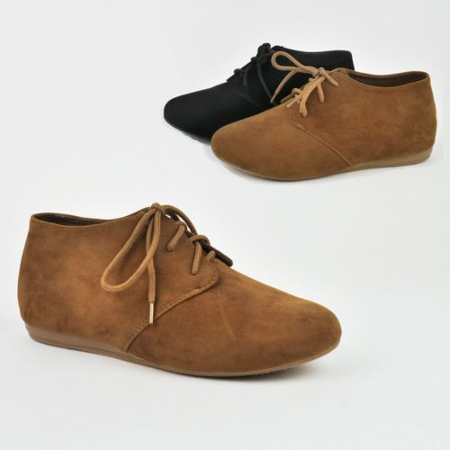 Women's Oxfords Moccasins Flat Loafers Ankle Lace Up Bootie