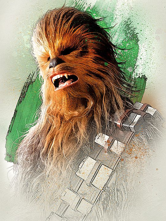 Star Wars The Last Jedi Promotional Art Chewbacca Starwars