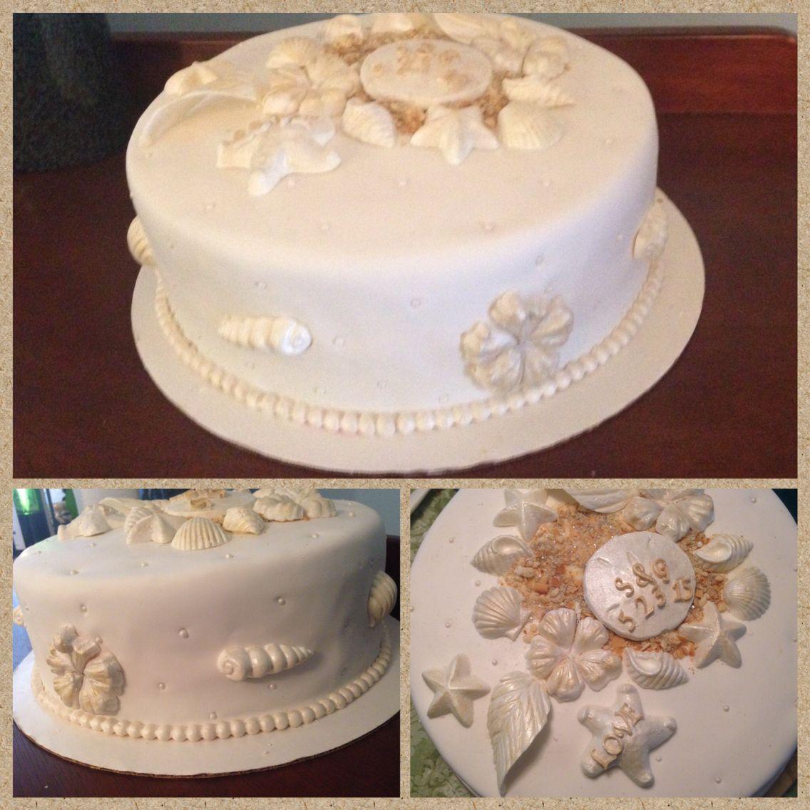 BEACHY Bridal shower cake by Po-Zi Designs